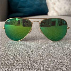 Ray Ban Sunglasses Aviator Flash Lenses Unisex